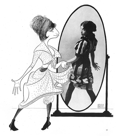 <p>Hirschfeld was at auditions for <em>I Can Get it for You Wholesale</em> when a young woman came to sing, and as she made her way center stage she tripped and dropped all her music. Nevertheless, when she began to sing it was clear she was right for the role. Hirschfeld would draw Barbra Streisand another 38 times over a half century.</p><br />courtesy of the Al Hirschfeld Foundation