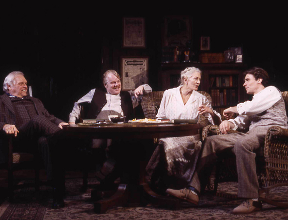 <p>Hoffman received Tony and Drama Desk nominations again in 2003, for his performance opposite Brian Dennehy, Vanessa Redgrave, and Robert Sean Leonard in Eugene O&#39&#x3B;Neill&#39&#x3B;s <em>Long Day&#39&#x3B;s Journey Into Night</em>.</p><br />(© Joan Marcus)