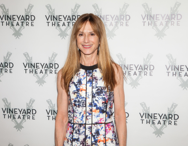 <p>Holly Hunter, recently seen off-Broadway in <em>Sticks and Bones</em>, smiles for TheaterMania.</p><br />(© Seth Walters)