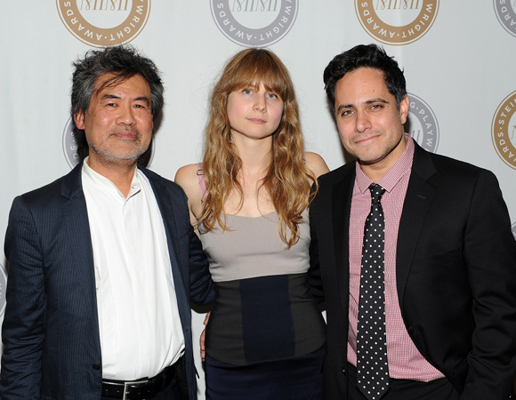 <p>Honorary playwrights David Henry Hwang, Annie Baker and Rajiv Joseph.</p><br />(© 2013 Getty Images)