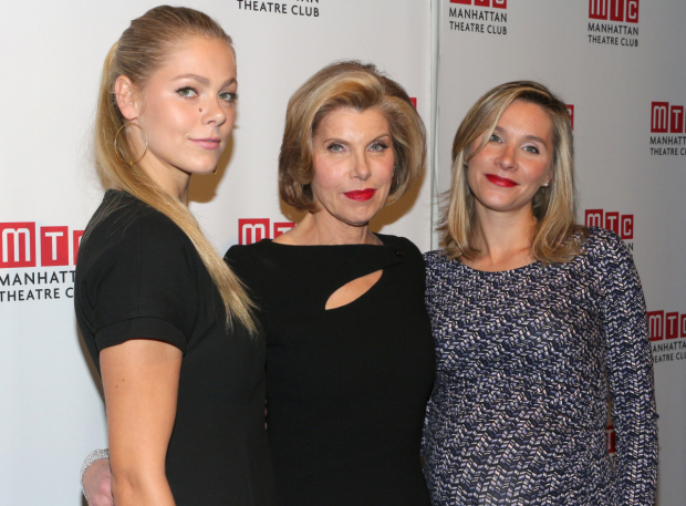 <p>Honoree Christine Baranski shares the evening with her daughters, Lily (left) and Isabel.</p><br />(© David Gordon)