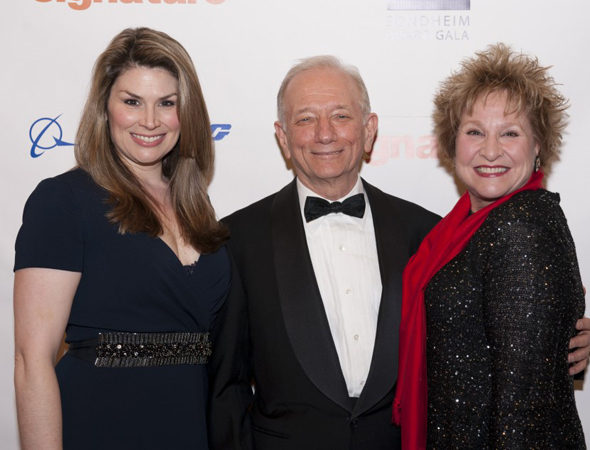 <p>Honoree Jonathan Tunick (center) with Heidi Blickenstaff and Pamela Myers.</p><br />(© Margot Schulman)