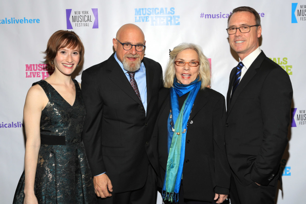 <p>Honorees Charles Fink and Marsha Norman (center) join producing artistic director Rachel Sussman and executive director and producer Dan Markley at the celebration.</p><br />(© Tricia Baron)