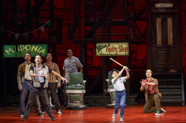 <p>Hudson Loverro swings for the fences.</p><br />(© Joan Marcus)