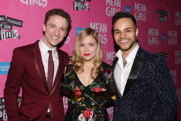 <p>Iain Young, Tee Boyich, and Chris Medlin celebrate their opening night.</p><br />(© David Gordon)