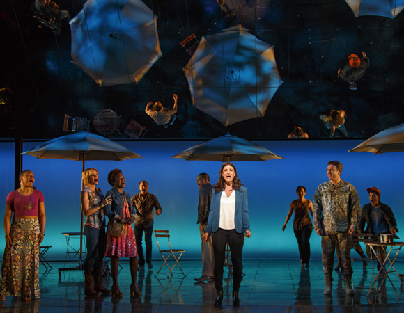 <p>Idina Menzel leads the cast of <em>If/Then</em>, directed by Michael Greif, at Broadway&#39&#x3B;s Richard Rodgers Theatre.</p><br />Joan Marcus