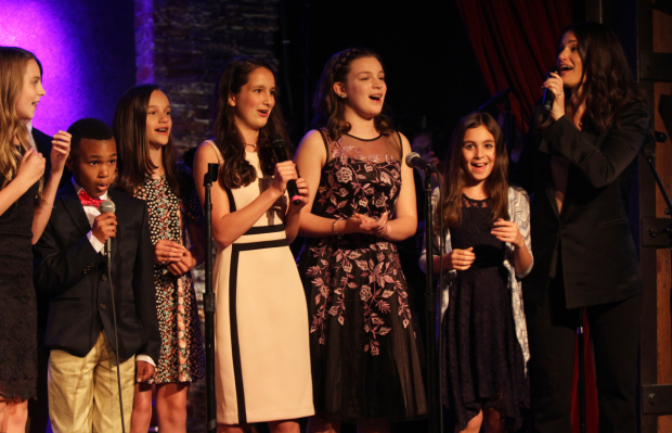 <p>Idina Menzel performed with students.</p><br />(© Henry McGee)