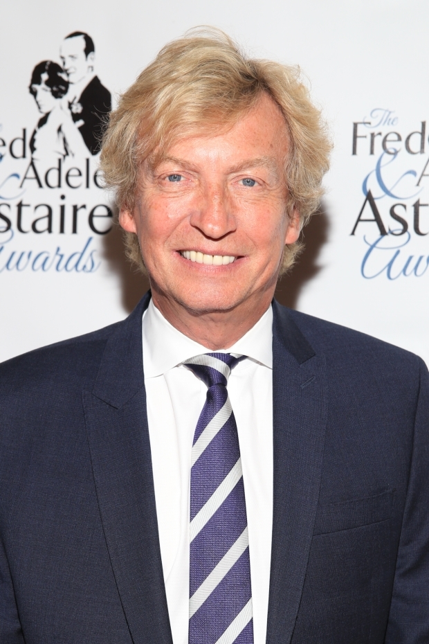 <p>Nigel Lythgoe, executive producer of <em>So You Think You Can Dance</em>, received the award for Outstanding Contribution to the Field of Dance.</p><br />(© Tricia Baron)