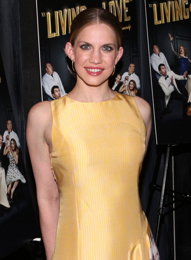 <p>In <em>Living on Love</em>, <em>Veep</em> Emmy nominee Anna Chlumsky plays Iris Peabody, her second Broadway role since the year started. (Her first, at the same theater, was Alice in <em>You Can&#39&#x3B;t Take It With You</em>.)</p><br />(© David Gordon)