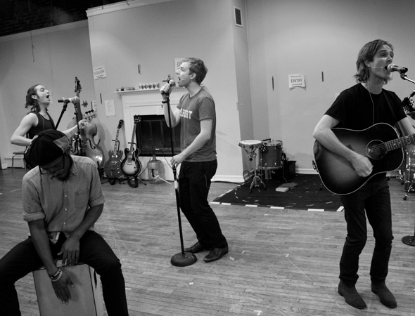 <p>In rehearsal with cast members from <em>What&#39&#x3B;s It All About? Bacharach Reimagined</em>.</p><br />(© David Gordon)