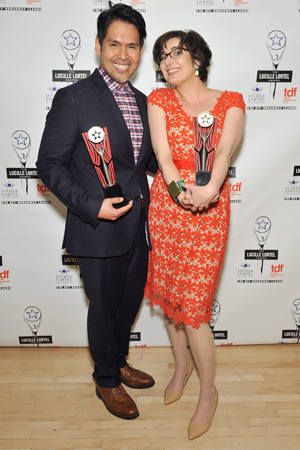 <p>In the costume design category, Clint Ramos and Paloma Young tied for their work on <em>Here Lies Love</em> and <em>Natasha, Pierre &amp&#x3B; the Great Comet of 1812</em>, respectively.</p><br />(© Getty Images)