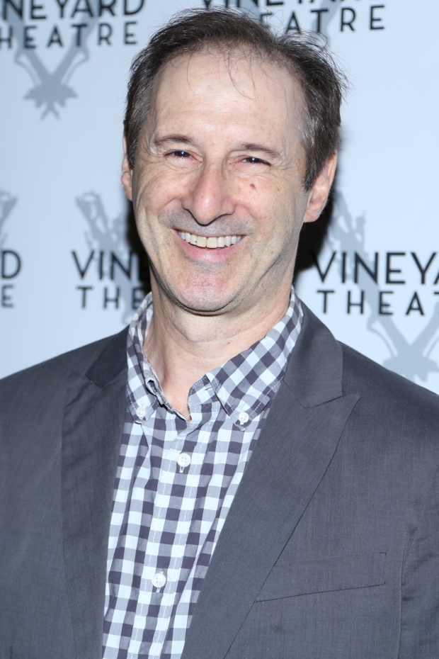 <p><em>Indecent</em> star Richard Topol came to support the Vineyard Theatre.</p><br />(© Tricia Baron)