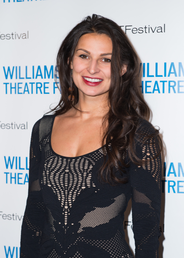 <p><em>Ironbound</em> playwright Martyna Majok smiles for the camera.</p><br />(© Allison Stock)