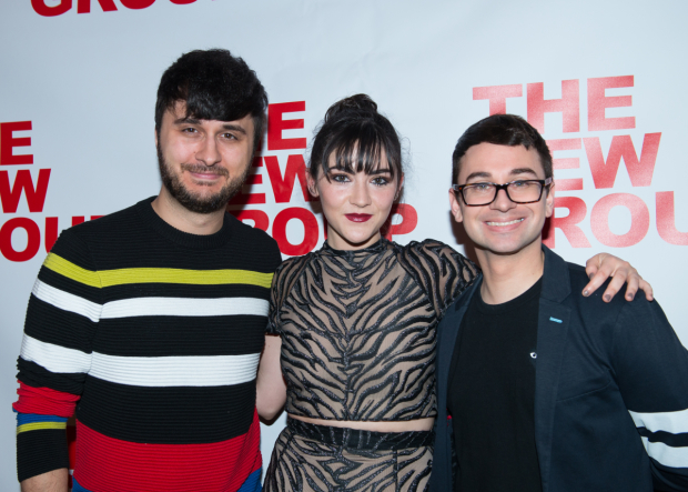 <p>Isabelle Fuhrman (center) poses with Brad Walsh (left) and Christian Siriano.</p><br />(© Allison Stock)