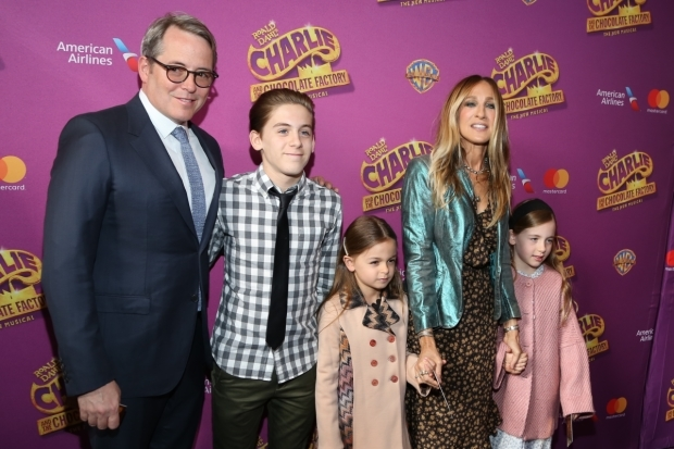 <p>It&#39&#x3B;s a family affair for Matthew Broderick and Sarah Jessica Parker, who brought along their children.</p><br />(© Tricia Baron)