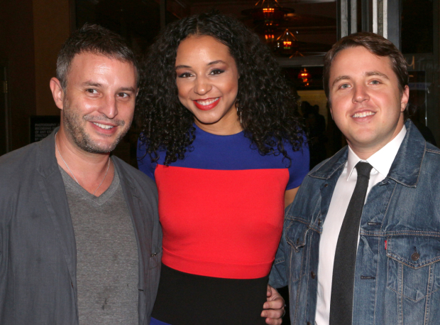 <p>It&#39&#x3B;s a <em>Significant Other</em> reunion for director Trip Cullman, actor Carra Patterson, and playwright Joshua Harmon.</p><br />(© David Gordon)