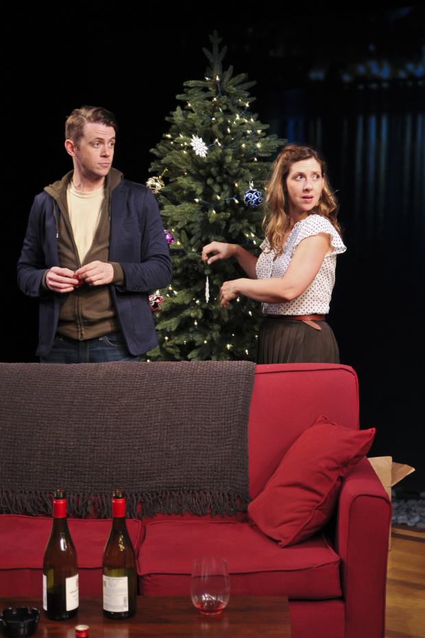 <p>It&#39&#x3B;s Christmas Eve in Anna Ziegler&#39&#x3B;s new play, in which Nick Westrate and Miriam Silverman costar.</p><br />(© Jenny Anderson)
