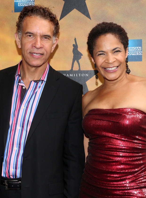 <p>It&#39&#x3B;s date night for Broadway couple Brian Stokes Mitchell and Allyson Tucker.</p><br />(© David Gordon)