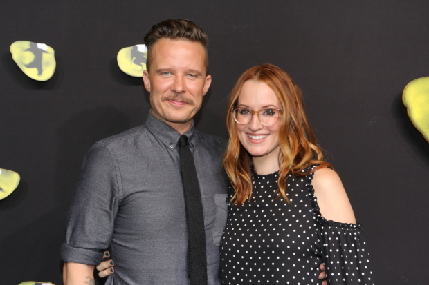 <p>It&#39&#x3B;s date night for <em>Something Rotten!</em> star Will Chase and singer-songwriter Ingrid Michaelson.</p><br />(© David Gordon)