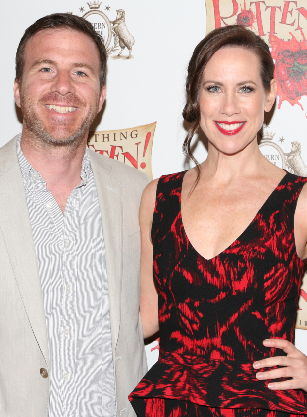 <p>It&#39&#x3B;s date night for <em>Younger</em>&#39&#x3B;s Miriam Shor and her hubby, Justin Hagan.</p><br />(© David Gordon)