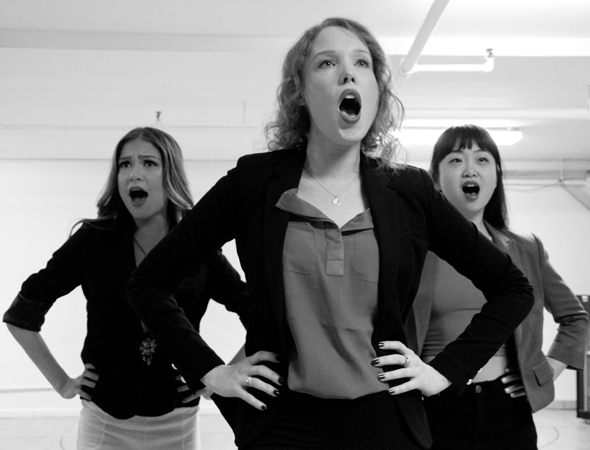 <p>It&#39&#x3B;s the Heathers themselves: Elle McLemore, Jessica Keenan Wynn, and Alice Lee.</p><br />(© David Gordon)