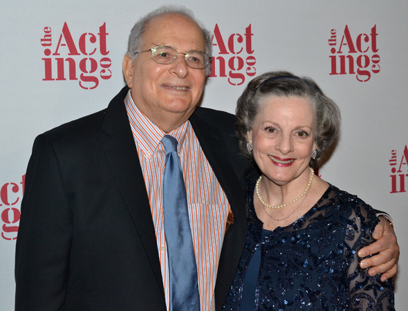 <p>Ivey is congratulated by her <em>Driving Miss Daisy</em> playwright, Alfred Uhry.</p><br />(© David Gordon)