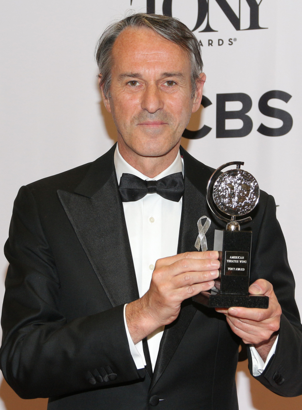 <p>Ivo van Hove, Best Direction of a Play winner for <em>A View From the Bridge</em>.</p><br />(© David Gordon)