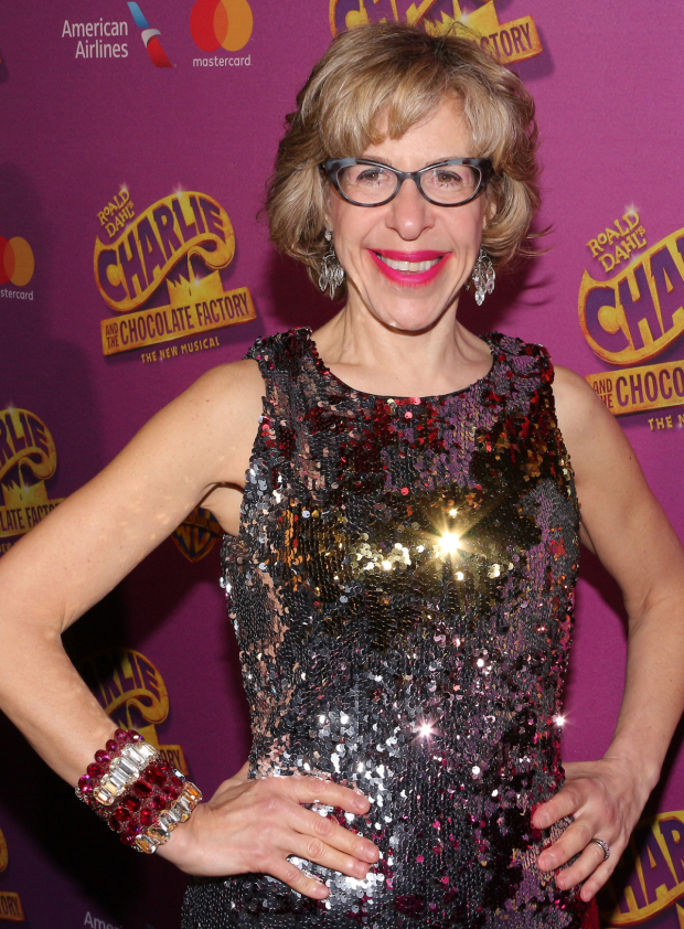 <p>Jackie Hoffman returns to Broadway as Mrs. Teavee.</p><br />(© David Gordon)