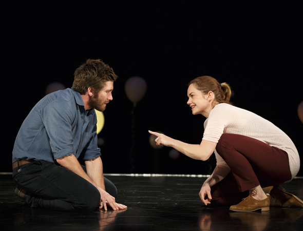 <p>Jake Gyllenhaal and Ruth Wilson in a scene from Nick Payne&#39&#x3B;s <em>Constellations</em>.</p><br />(© Joan Marcus)