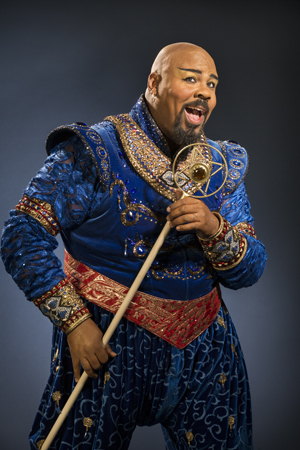 <p>James Monroe Iglehart plays Genie.</p><br />(© Cylla von Tiedemann)
