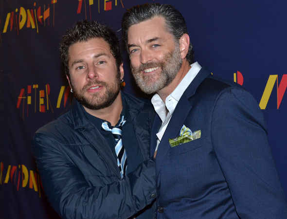 <p>James Roday and Timothy Omundson are jazzed to cheer on their <em>Psych</em> costar Dulé Hill upon his return to Broadway.</p><br />(© David Gordon)