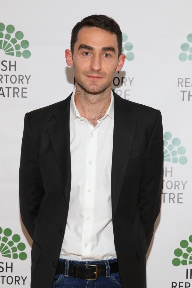 <p>James Russell completes he cast as Laurence.</p><br />(© Tricia Baron)