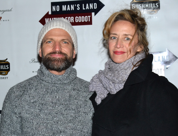 <p>Janet McTeer and boyfriend Joe Coleman are always a welcome sight at Broadway opening nights.</p><br />(© David Gordon)