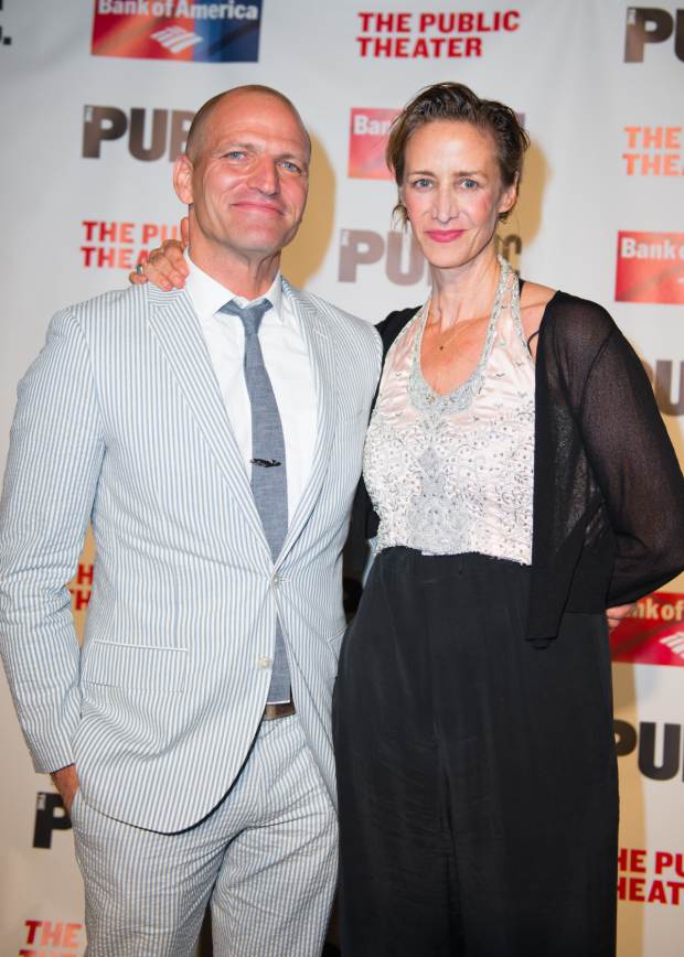 <p>Janet McTeer celebrates her opening night with her husband, Joe Coleman.</p><br />(© Allison Stock)