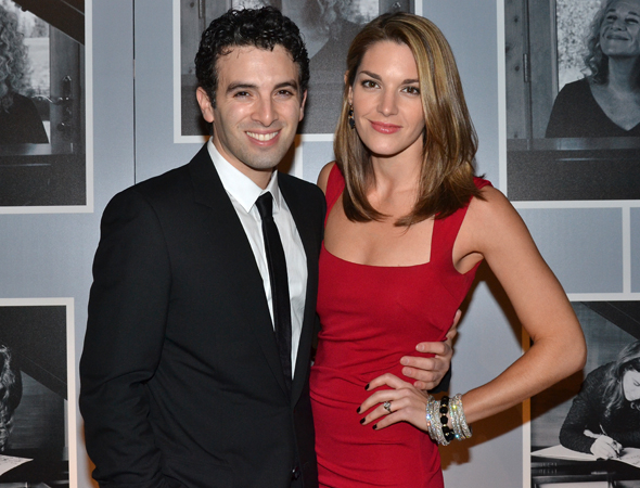 <p>Jarrod Spector, who plays songwriter Barry Mann, celebrated with his fiancée, actress Kelli Barrett.</p><br />(© David Gordon)