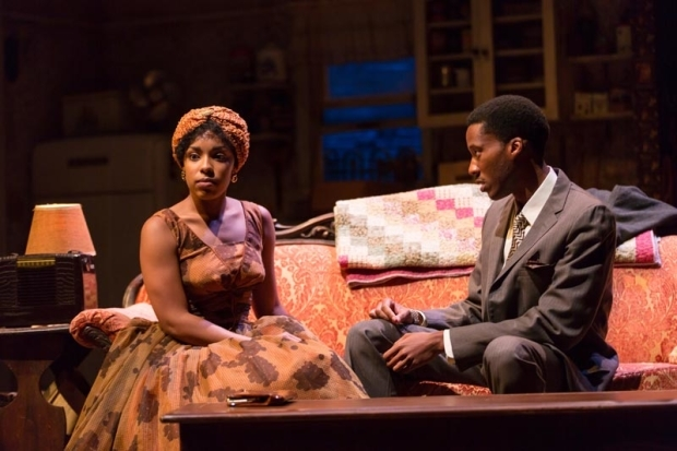 <p>Jasmine Batchelor and York Walker share a scene.</p><br />(© T. Charles Erickson)