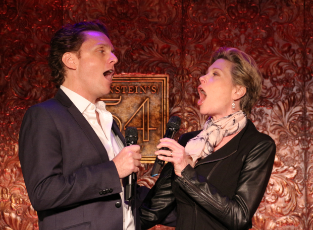<p>Jason Danieley and Marin Mazzie sing &quot&#x3B;Opposite You.&quot&#x3B;</p><br />(© David Gordon)