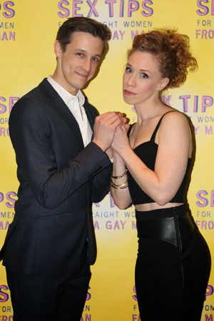 <p>Jason Michael Snow and Lindsay Nicole Chambers do their best prom-photo pose.</p><br />(© Stephanie Olsen)