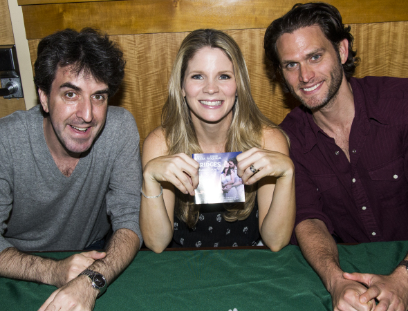 <p>Jason Robert Brown, Kelli O&#39&#x3B;Hara, and Steven Pasquale show off their new favorite CD.</p><br />(© David Gordon)