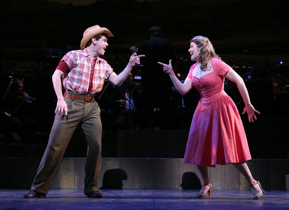 <p>Jay Armstrong Johnson and Heidi Blickenstaff are part of Encores!&#39&#x3B;s impressive supporting cast for <em>The Most Happy Fella</em>.</p><br />(© Joan Marcus)
