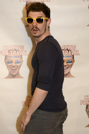 <p>Jay Armstrong Johnson rocks a pair of the show&#39&#x3B;s signature sunglasses.</p><br />(© Nessie Nankivell)