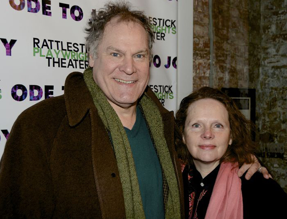 <p>Jay O. Sanders and Maryann Plunkett spend date night at the theater.</p><br />(© Nessie Nankivell)