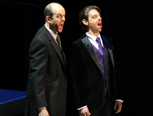 <p>Jeff Blumenkrantz and Christian Borle join in.</p><br />(© David Gordon)