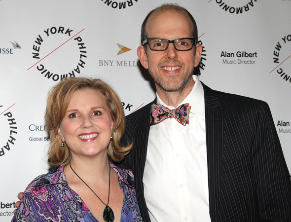 <p>Jeff Blumenkrantz (right) poses with <em>Sweeney Todd</em> costumer Tracy Christensen.</p><br />(© David Gordon)