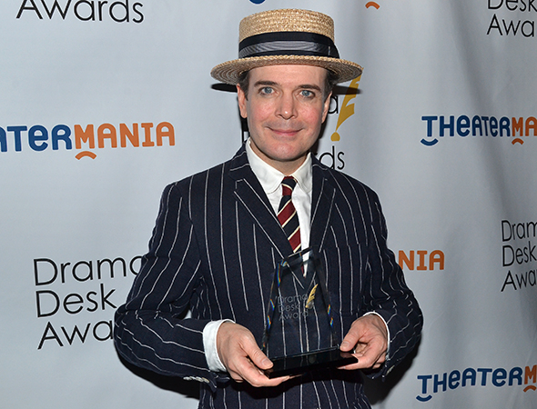 <p>Jefferson Mays — Outstanding Actor in a Musical winner for <em>A Gentleman&#39&#x3B;s Guide to Love and Murder</em>.</p><br />(© David Gordon)