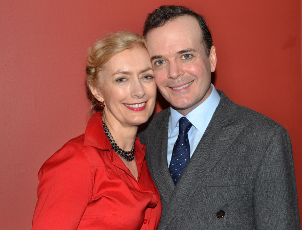<p>Jefferson Mays, winner of the Outstanding Actor in a Musical award for his performance in <em>A Gentleman&#39&#x3B;s Guide to Love and Murder</em>, poses with his wife, Susan Lyons.</p><br />(© David Gordon)