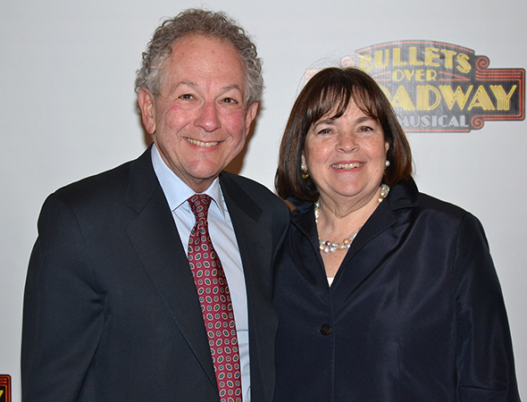 <p>Jeffrey and Ina Garten are pleased to be in the house on opening night.</p><br />(© David Gordon)