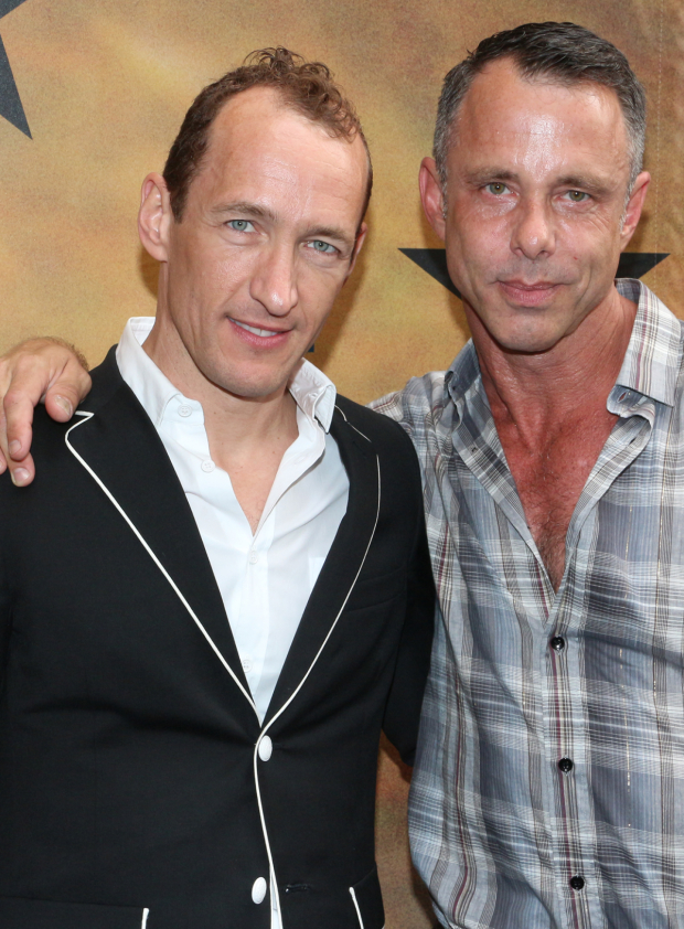 <p>Jeffrey Seller (left, seen here with his partner, Josh Lehrer) serves as the lead producer on <em>Hamilton</em>.</p><br />(© David Gordon)