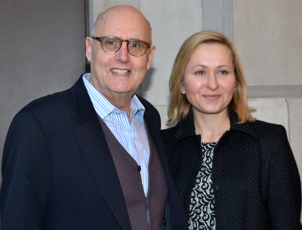<p>Jeffrey Tambor and his wife, Kasia Ostlun, have a date with the Joneses.</p><br />(© David Gordon)
