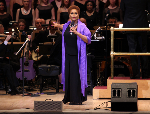 <p>Jenifer Lewis wows the crowd with &quot&#x3B;I Know Where I&#39&#x3B;ve Been.&quot&#x3B;</p><br />(© David Gordon)